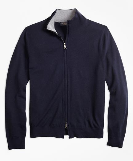 BrooksTech™ Merino Wool Full-Zip Cardigan