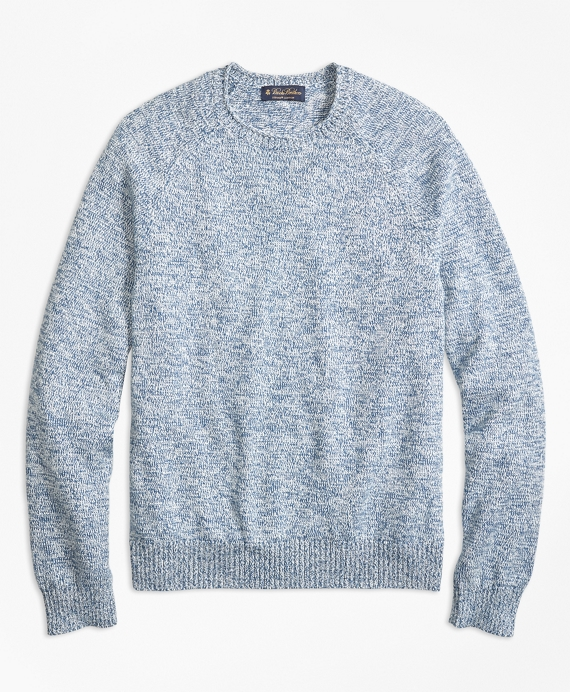 Supima® Cotton Rollneck Sweater Blue