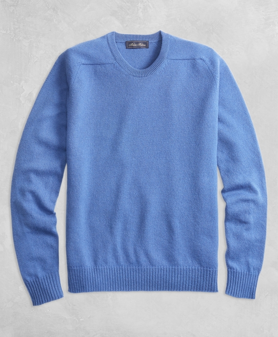 Golden Fleece® 3-D Knit Cashmere Crewneck Sweater Blue