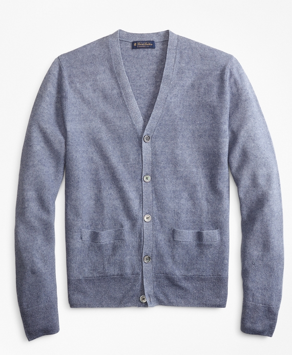 Linen Cardigan Blue