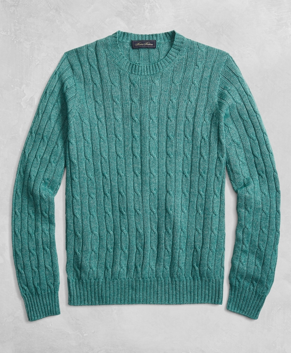 Golden Fleece® 3-D Knit Cable Crewneck Sweater