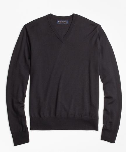BrooksTech™ Merino Wool V-Neck Sweater