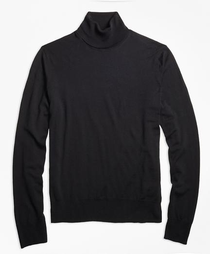 BrooksTech™ Merino Wool Turtleneck Sweater