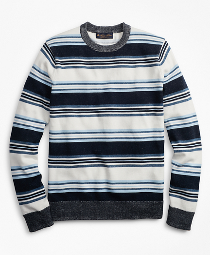 Supima® Cotton Stripe Crewneck Sweater