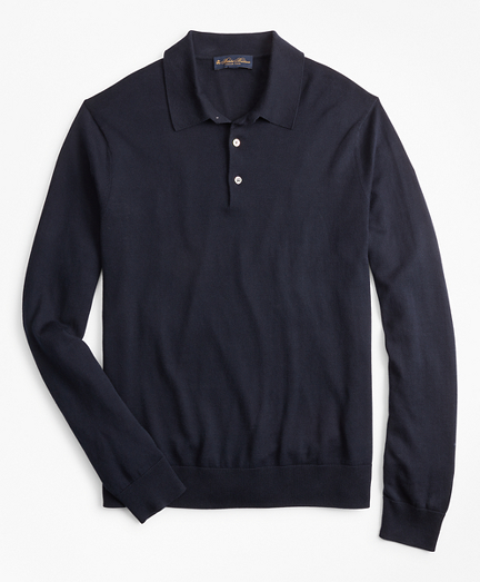 Silk And Cotton Polo Sweater