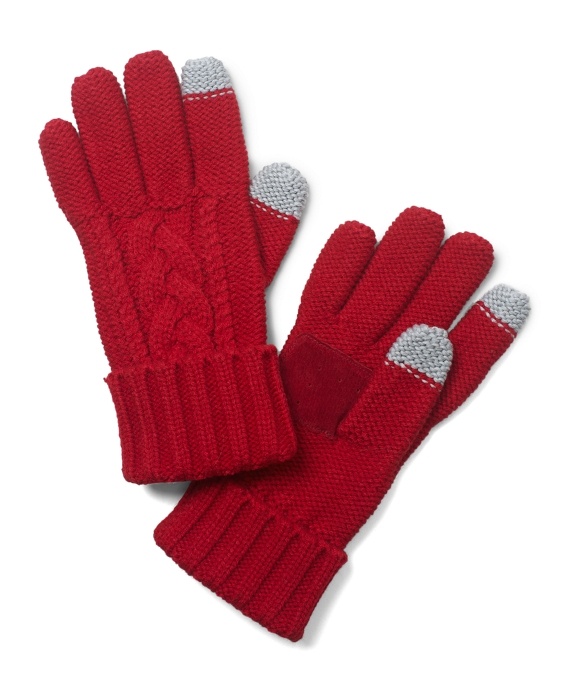 SensorTouch Knit Gloves Red