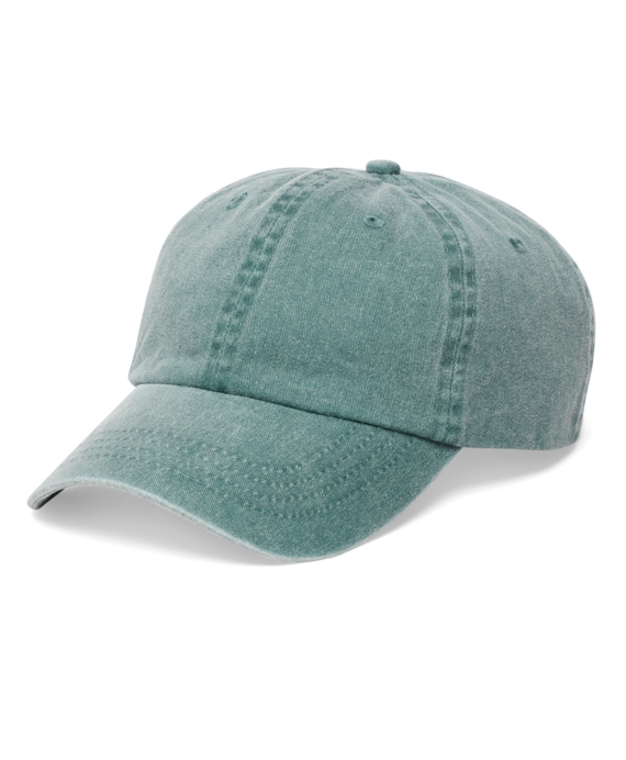 Faded Cotton Baseball Cap Green