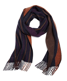 Cashmere Double-Faced Stripe Scarf
