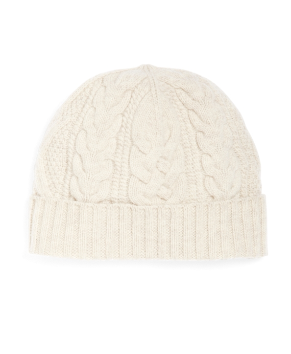 Saxxon Wool Cable Knit Hat Ivory