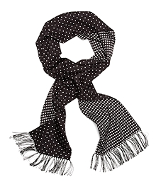 Silk Polka Dot Formal Scarf