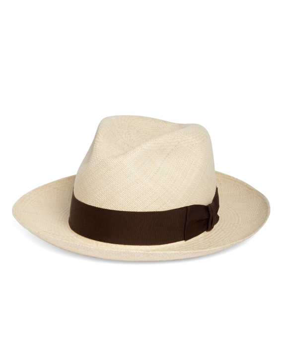Stetson Panama Fedora with Grosgrain Ribbon Natural