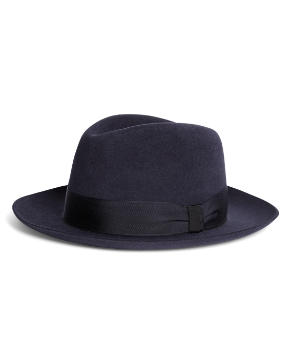 Lock and Co. Prague Navy Fedora Navy