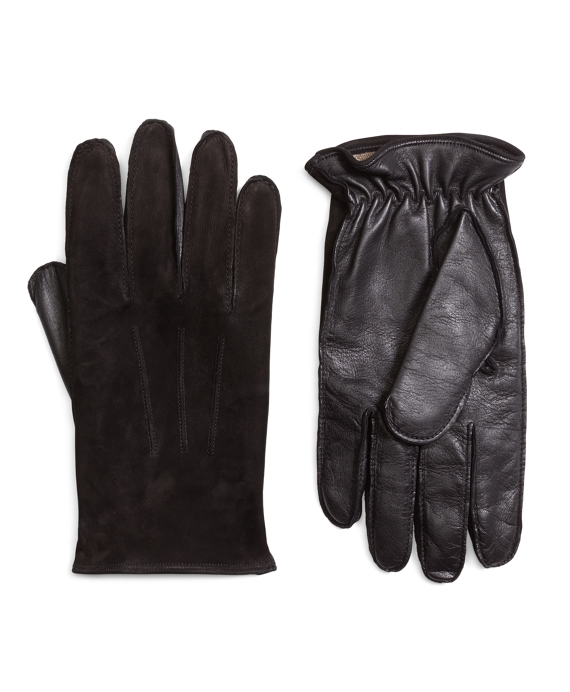 Leather and Suede Touch Screen Gloves