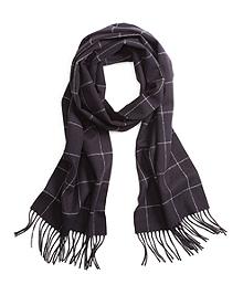 Saxxon® Wool Windowpane Scarf