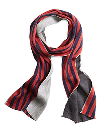 Double-Faced Stripe Scarf