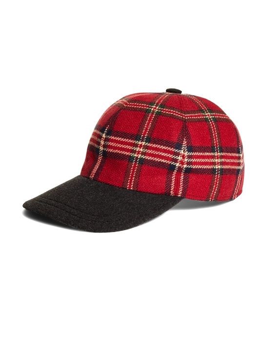 Signature Tartan Baseball Cap Red