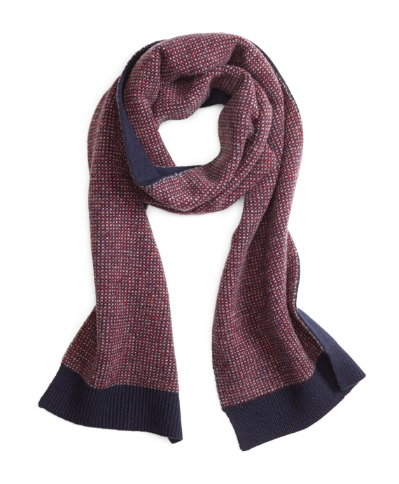Bird's-Eye Scarf Navy-Red-White