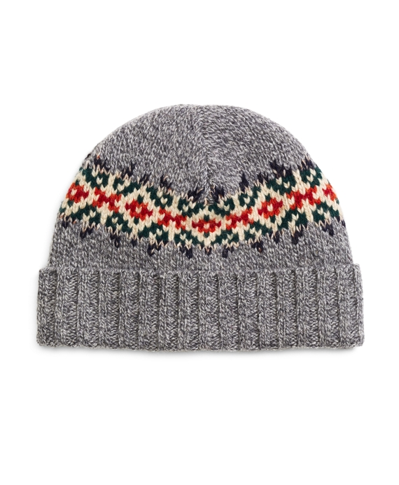Men's Grey Fair Isle Winter Hat | Brooks Brothers