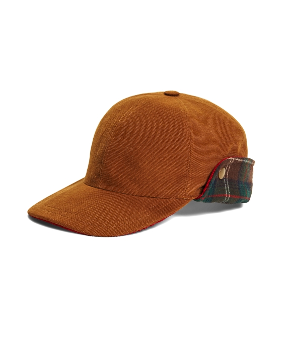 Pendleton® Baseball Cap with Ear Flaps Tan Multi