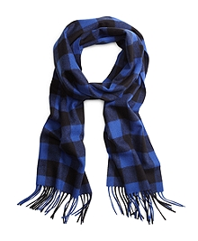 Saxxon® Wool Buffalo Check Scarf