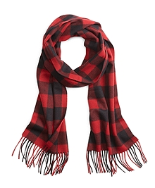 Saxxon Wool Buffalo Check Scarf