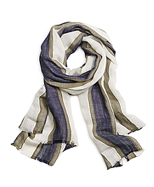 Thick Stripe Scarf