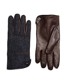 Harris Tweed and Leather Gloves
