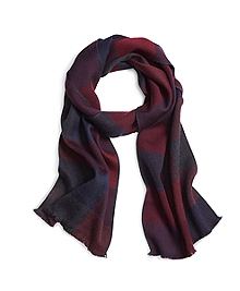 Block Plaid Scarf