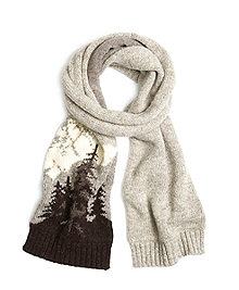 Mountain Motif Scarf