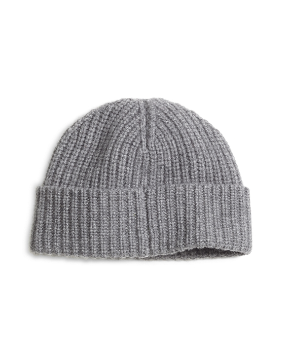 Ribbed Cashmere Hat Grey