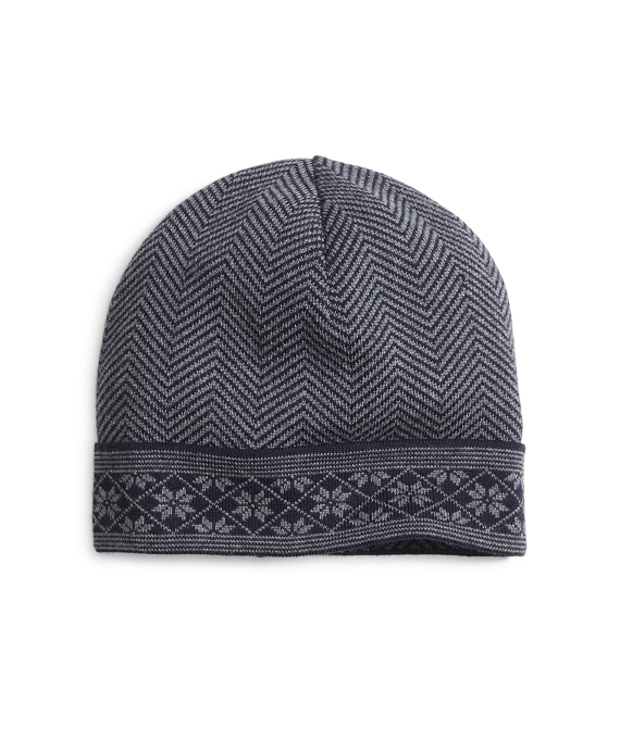 Herringbone and Fair Isle Hat