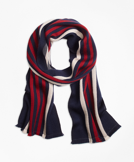 Double-Faced Rugby Stripe Scarf