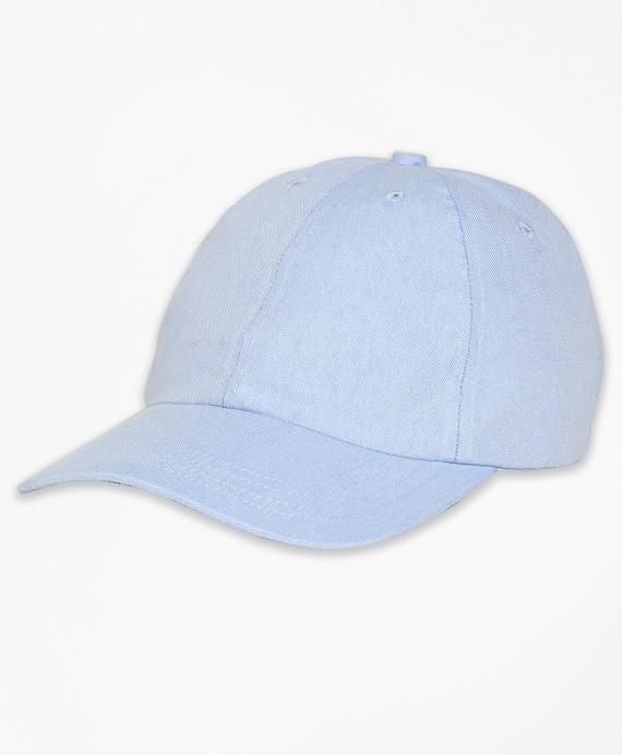 Cotton Oxford Baseball Hat Blue