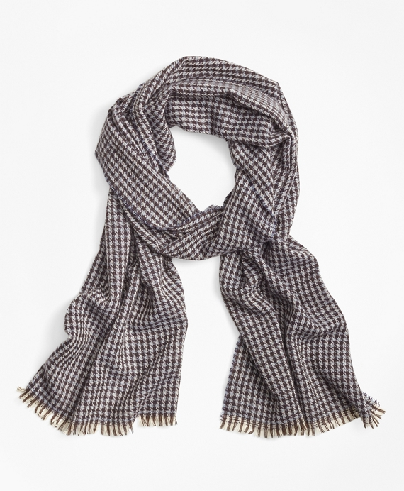Cashmere Houndstooth Scarf