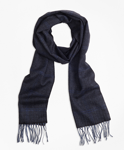 Brooks Brothers Saxxon Wool Herringbone Scarf