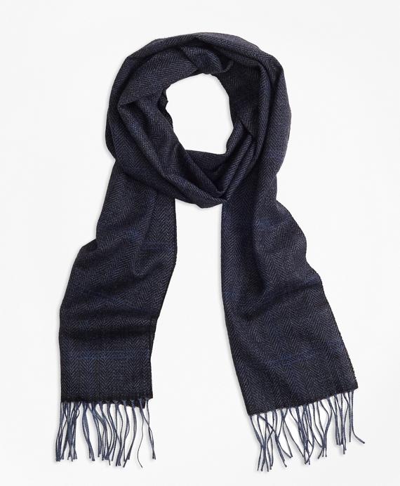Saxxon™ Wool Herringbone Scarf Navy