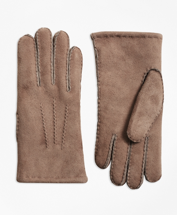 Shearling Gloves Taupe