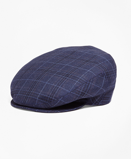 Brooks Brothers Plaid Saxxon Wool Ivy Cap
