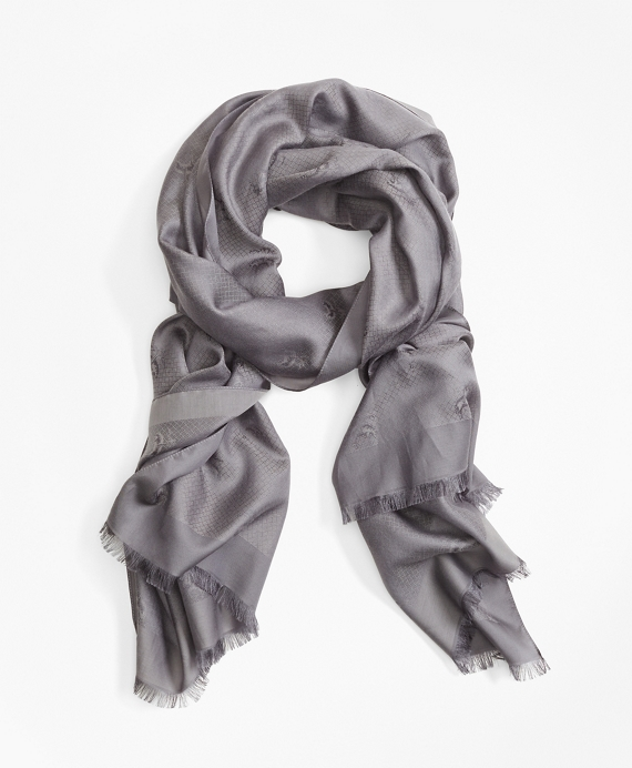 Golden Fleece® Jacquard Scarf Grey