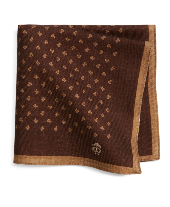 Sale alerts for Brooks Brothers Wool Clover Print Pocket Square - Covvet