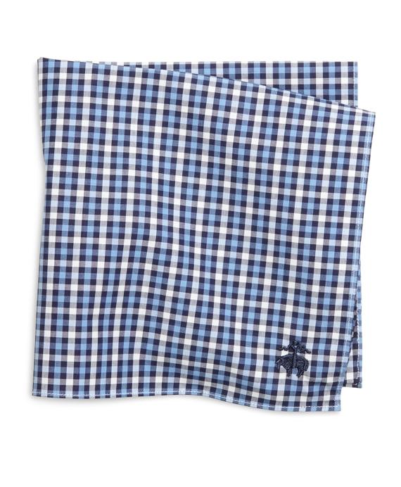 Multicheck Pocket Square Blue