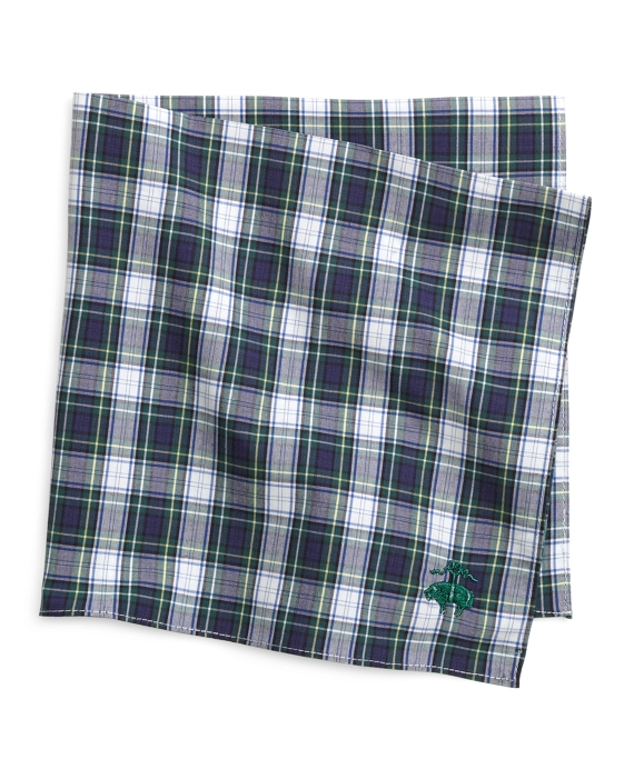 Multiplaid Pocket Square Green