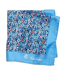 Flower Print Pocket Square