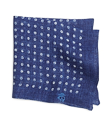 Linen Dot Print Pocket Square