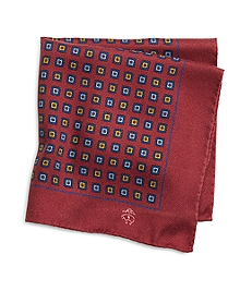 Brushed Medallion Pocket Square