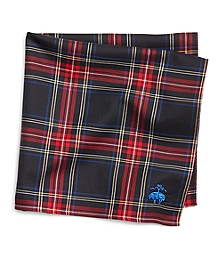 Black Stewart Tartan Pocket Square