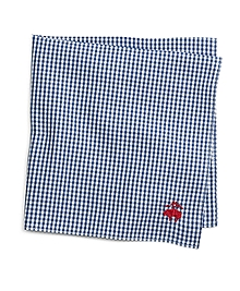 Micro Gingham Pocket Square