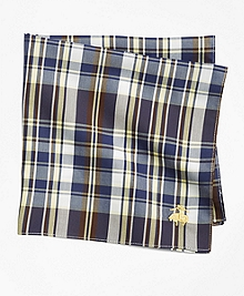 Multi Plaid Pocket Square