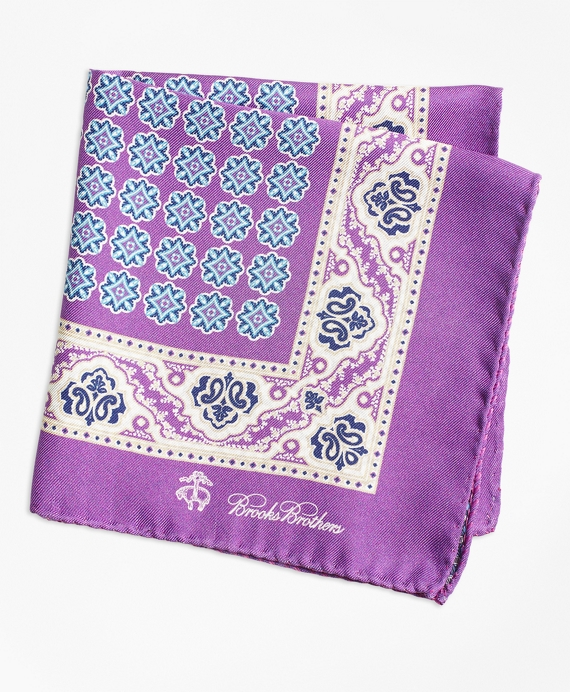 Paisley and Circle Link Pocket Square