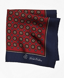 Flower and Medallion Pocket Square